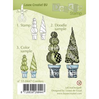 Leane Creatief clear doodle stamp - Koniferen (55.0447)