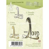 Leane Creatief clear doodle stamp - mit Liebe (55.0461)