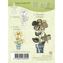 Leane Creatief clear doodle stamp - Blumentopf (55.0454)