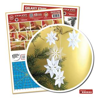 Quillingschablone/ Quillingboard Sterne - Galaxy Stars (0124)