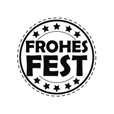 Butterer Holzstempel rund 3 cm  - Frohes Fest (865)