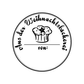 Butterer Holzstempel rund 3 cm - Weihnachtsbäckerei (866)