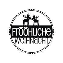 Butterer Holzstempel rund 3 cm - Frööhliche...