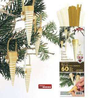3D Quilling Kit Tüten weiß gold