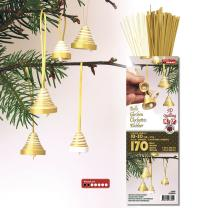 3D Quilling Kit Glocken gold/ luxus weiß