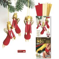 3D Quilling Kit  Engel  rot/gold