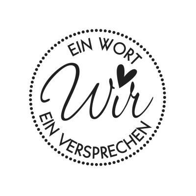 Butterer Holzstempel rund 3 cm - Wir (934)