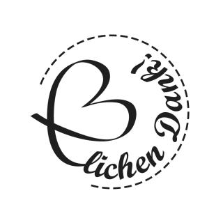 Butterer Holzstempel rund 3 cm - Herzlichen Dank (938)