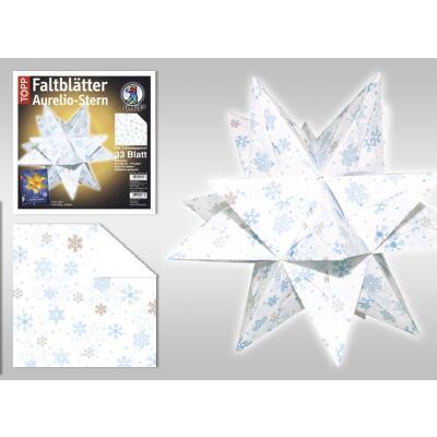 20 x 20 cm Origami Bastelset : Transparent Wei/ß Faltbl/ätter