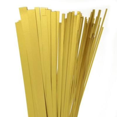 140 Quilling Papierstreifen   in luxus  gold