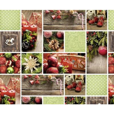 Motiv-Fotokarton Weihnachten rot/grün (95), 300 g/m²,  49,5cm x 68cm