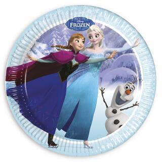 Frozen die Eiskönigin Ice Skating Teller, 8 Stück