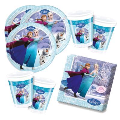 52-teiliges Party Set Frozen die Eiskönigin Ice Skating -Teller Becher Servietten  für 16 Kinder