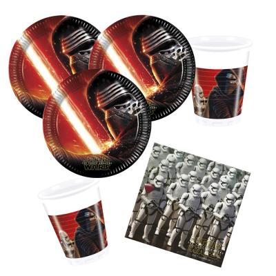 36- teiliges Party-Set Star Wars VII - The Forc e Awakens -  Teller Becher Servietten für 8 Kinder