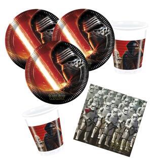 36- teiliges Party-Set Star Wars VII - The Forc e Awakens -  Teller Becher Servietten für 8 Kinder