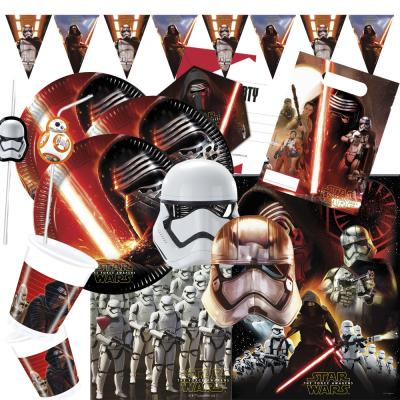 62- teiliges Party-Set Star Wars VII - The Forc e Awakens -  Teller Becher Servietten