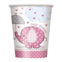 Becher Baby Fantastisch rosa Elefant, 8 Stück