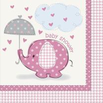 Servietten Baby Fantastisch rosa Elefant, 16 Stück