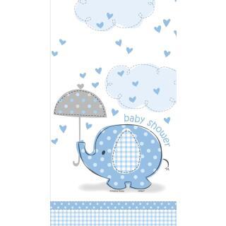 Tischdecke Baby Fantastisch blau Elefant, 1,37 x 2,13 m