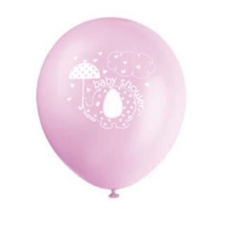 Luftballons  Baby Fantastisch rosa Elefant, 8 Stück