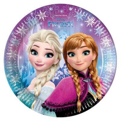 Frozen die Eiskönigin Nordlichter Teller, 8 Stück