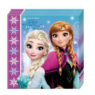 Frozen die Eiskönigin Nordlichter Servietten, 8 Stück