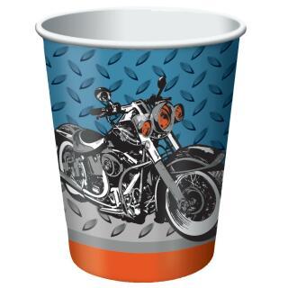 Motorrad - Becher 8 Stück