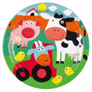 Farm Fun - Bauenhof - Teller,  8 Stück