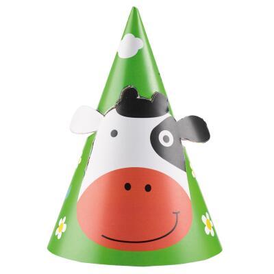 Farm Fun - Bauenhof - Partyhütchen,  8 Stück