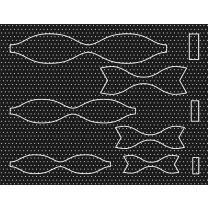 Ursus Bastelset 15 Papierschleifen aus Fotokarton - schwarz