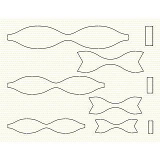 Ursus Bastelset 15 Papierschleifen aus Fotokarton - gelb