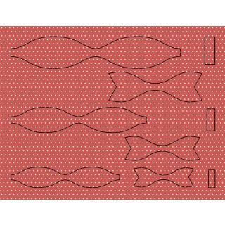 Ursus Bastelset 15 Papierschleifen aus Fotokarton - rot