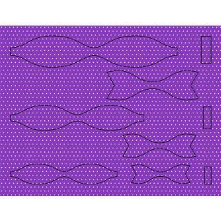 Ursus Bastelset 15 Papierschleifen aus Fotokarton - lila