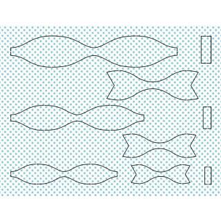 Ursus Bastelset 15 Papierschleifen aus Fotokarton - hellblau