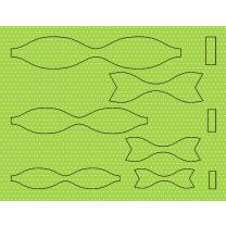 Ursus Bastelset 15 Papierschleifen aus Fotokarton - hellgrün