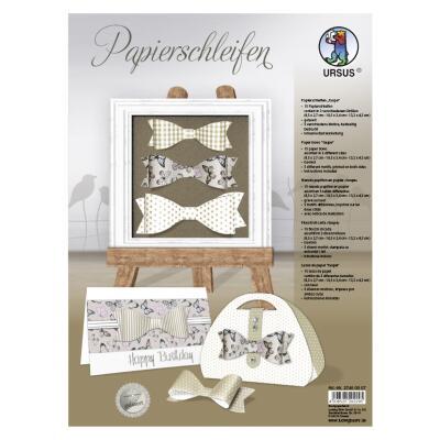 Ursus Bastelset 15 Papierschleifen aus Fotokarton - taupe