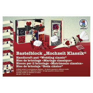 Ursus Bastelblock 16 Blatt 24 x 34 cm Hochzeit Klassik