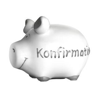 KCG Kleinschwein Keramik Sparschwein - Konfirmation -  ca. 12 cm x 9 cm