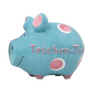 KCG Kleinschwein Keramik Sparschwein - Taschentick -  ca. 12 cm x 9 cm