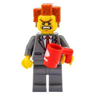 Serie 71004 Lego Movie Minifigur  Nr. 2 Präsident Business