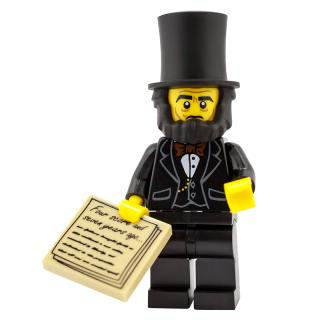 Serie 71004 Lego Movie Minifigur  Nr. 5 Abraham Lincoln