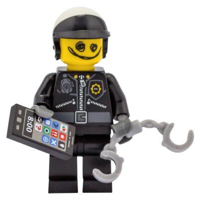 Serie 71004 Lego Movie Minifigur  Nr. 7 Kritzelgesicht Bad Cop