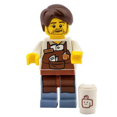 Serie 71004 Lego Movie Minifigur  Nr. 10 Barista Larry