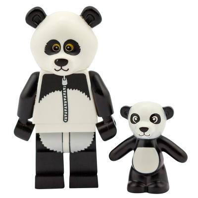 Serie 71004 Lego Movie Minifigur  Nr. 15 Panda Mann