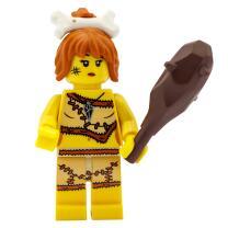 8805 - Lego Serie 5 Minifigur  Nr. 5 Steinzeitfrau