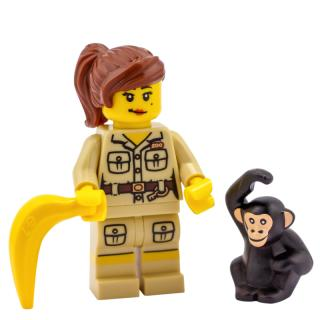 8805 - Lego Serie 5 Minifigur  Nr. 7 Zoopflegerin