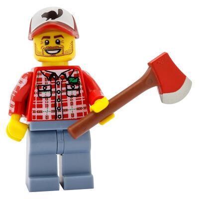 8805 - Lego Serie 5 Minifigur  Nr. 8 Holzfäller