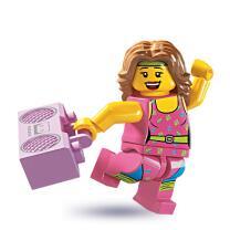 8805 - Lego Serie 5 Minifigur  Nr. 10 Fitnesstrainerin
