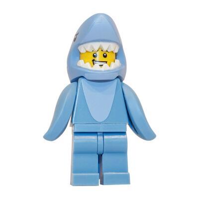 71011 - Lego Serie 15 Minifigur Nr. 13 Mann im Hai-Kostüm