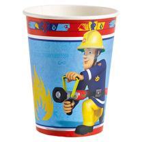 Feuerwehrmann Sam 8 Becher - Pappbecher -  0,25 l
